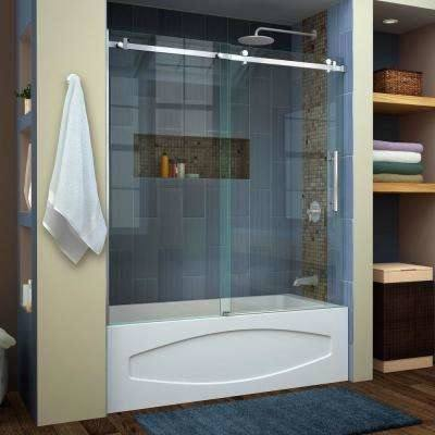 shower tub enclosures | heard right, a beautiful frameless shower enclosure  for your bath tub