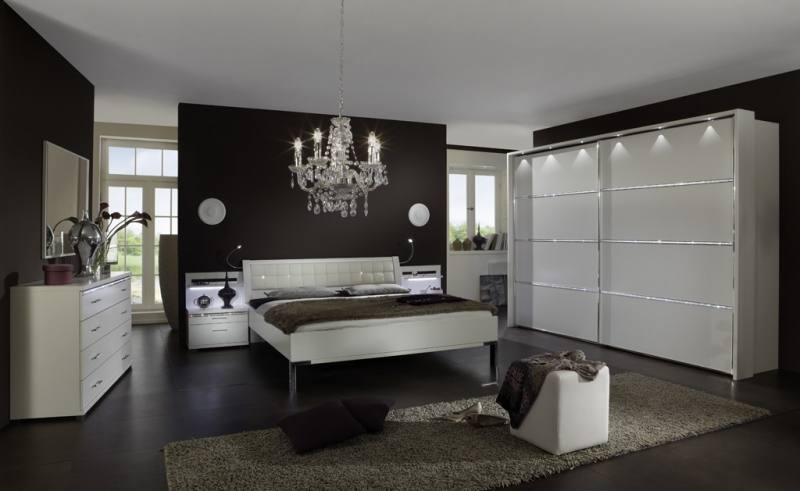 USORO MDF / HDF Bedroom Set (King Size Bed + Bedside Table + Wardrobe with Mirror) | Furnish