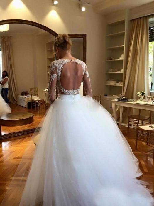 2017 Steven Khalil Mermaid Wedding Dresses With Detachable Skirt Stunning  Detail 3D Floral Sheer Neck Illusion Long Sleeve Wedding Gown Sexy Lace  Wedding