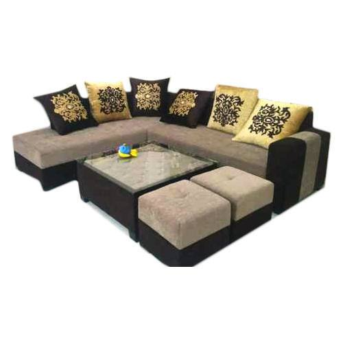 Sofa Set With Puffy