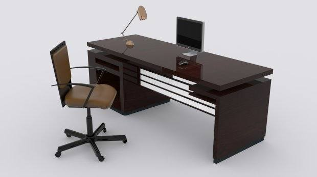 Desk and Chair with storage