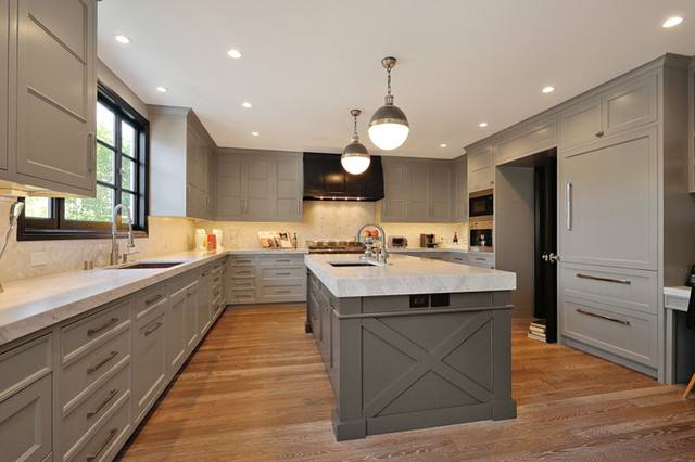 gray kitchen cabinet ideas