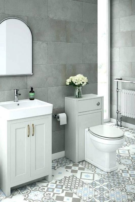 blue and white tile bathroom ideas grey