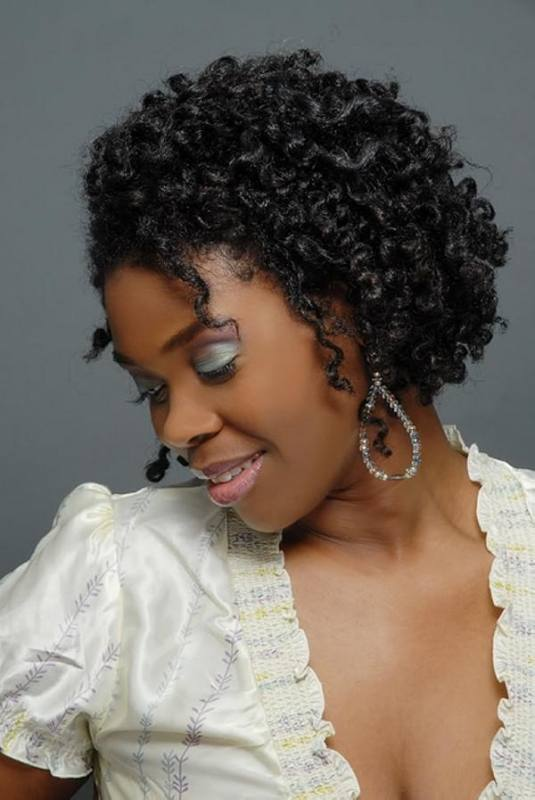 Afro hairstyles for black girls can be created on hair of any length, and one of the easy hairstyles for natural hair that is quite short is to wrap your