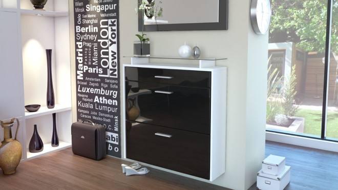 Sydney high gloss shoe cabinet I
