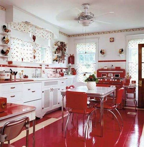 Yep, we're rounding up the best of vintage kitchens—as modeled on modern renditions