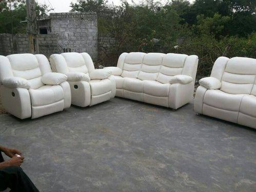 Marvelous Leather Sofa Recliner Set Center Divinity