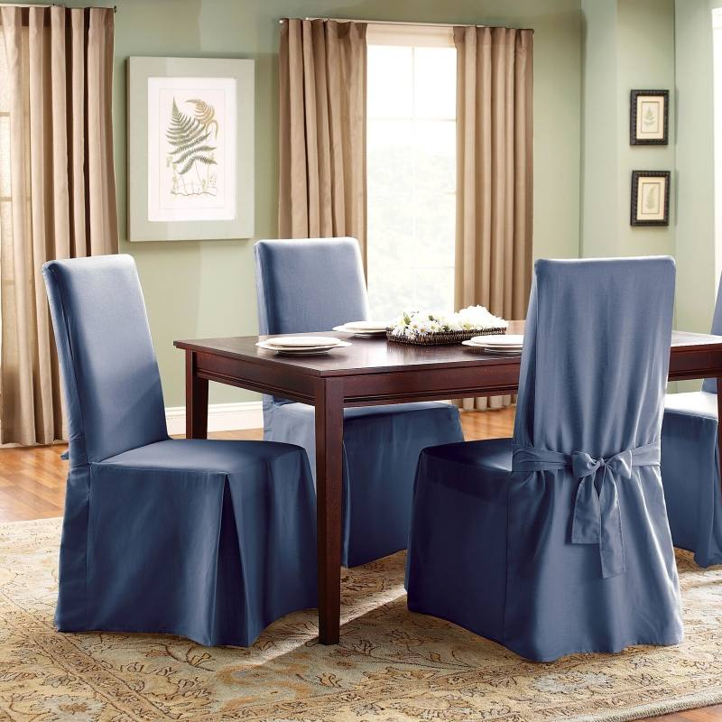 Clean, Simple Wrap Around Design Kitchen Chair Covers Dining