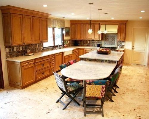 kitchen island with attached table inspiration design luxurious