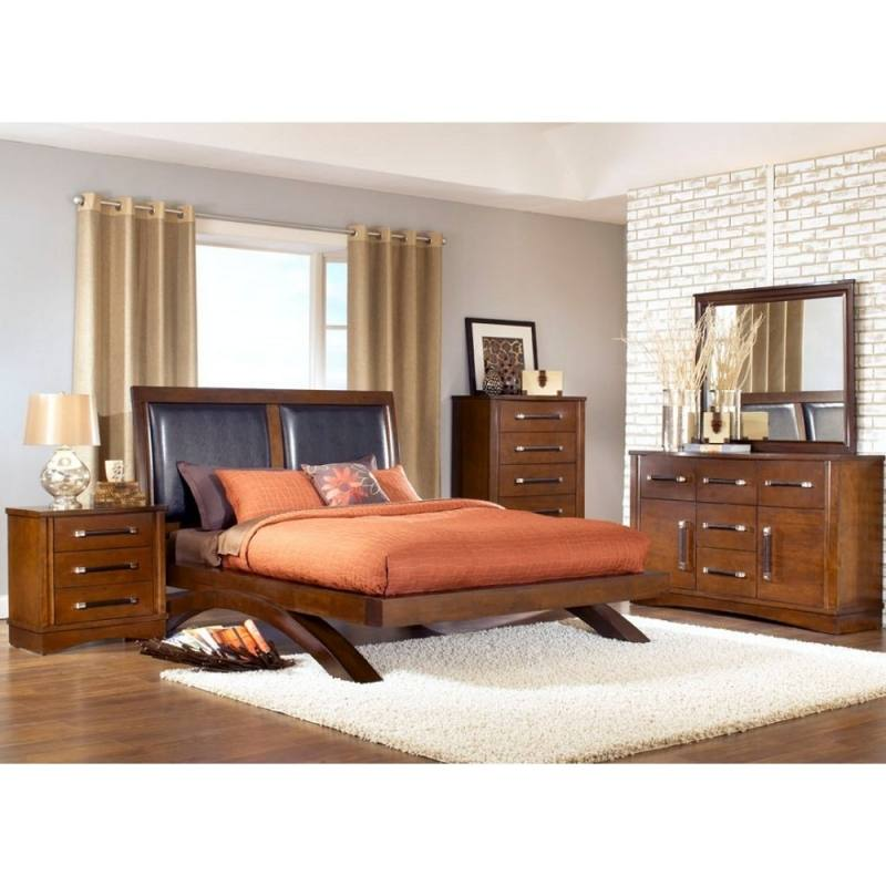 The headboard features  button