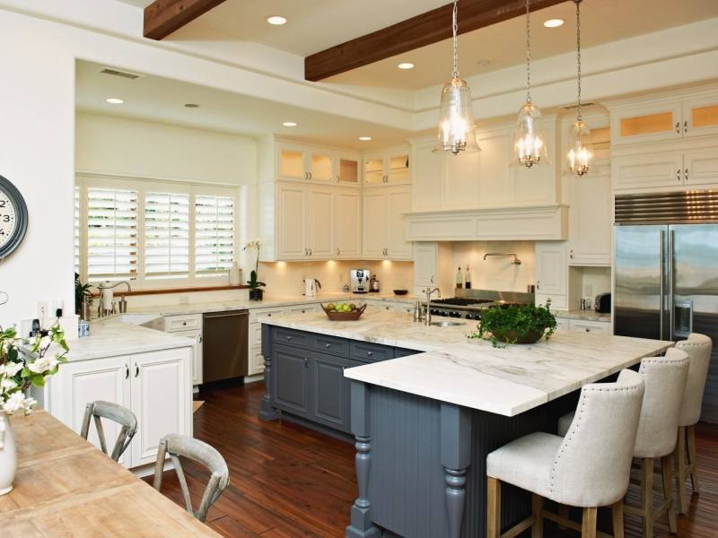 A kitchen counter can be performed classically polished, honed, renovated,  impregnated, brushed or flamed