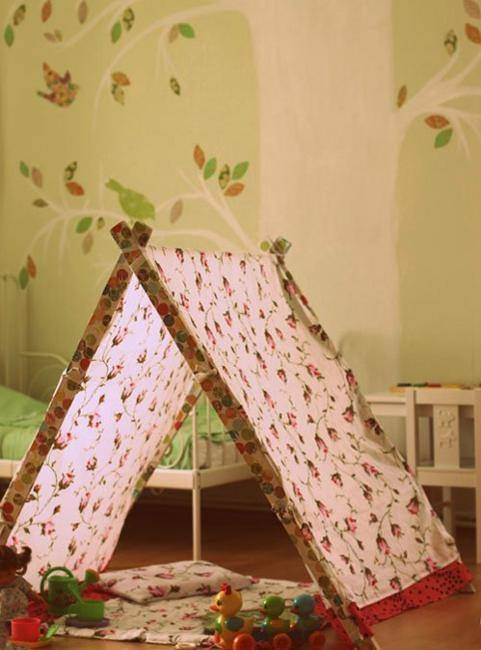 Teepee reading corner | A tent for kids bedroom design |  www