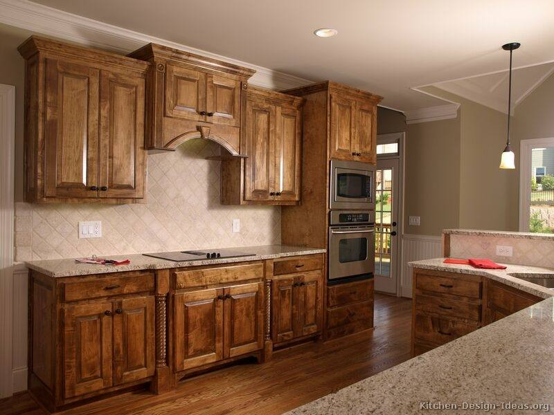 kitchen ideas with brown cabinets