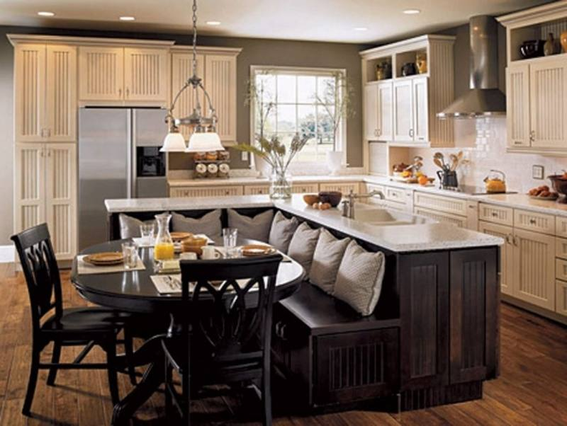 Kitchen Island With Table Attached Trends Also Extension Images