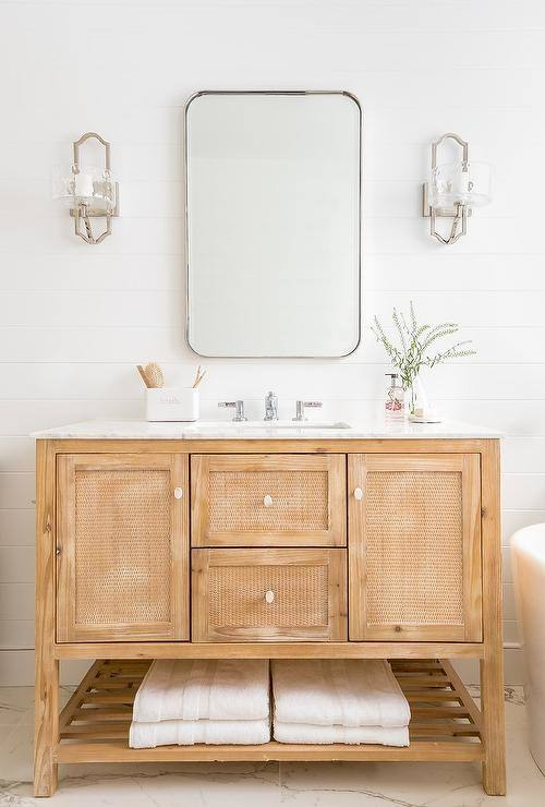 We can make rustic bathroom vanities in a variety of wood types and styles