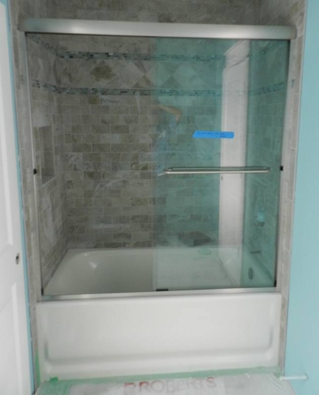 Model #182 Twin Roll Shower Door / Tub Enclosure Update your shower with  this 3/8th tempered glass shower door slider