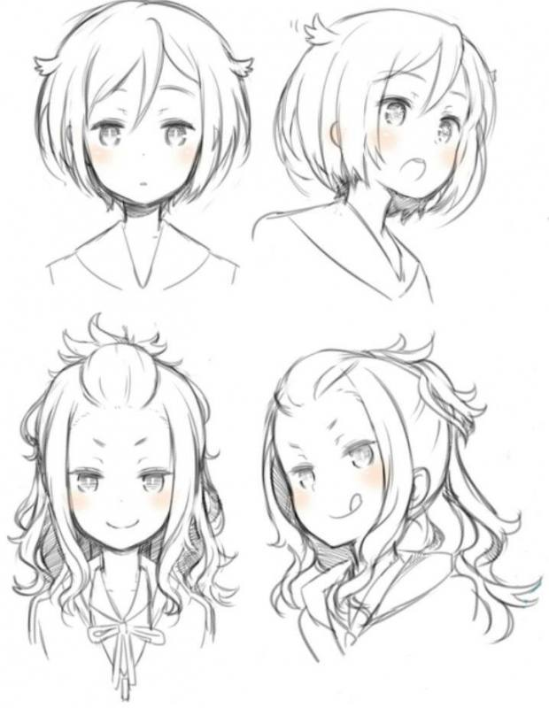 hairstyle1, hairstyle2, hairstyle