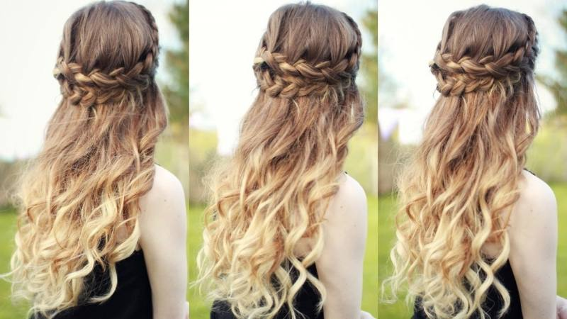 There are lots of tight curls with this look, and it looks incredible with  the crown in front