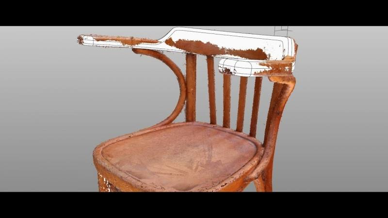 Designer chair modelled in Rhinoceros, scene setup and render with  Cinema4D