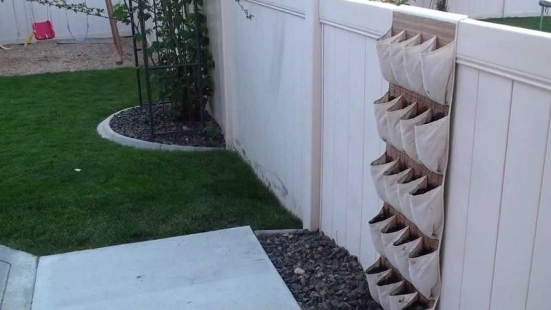 Inspiration For A Vertical Garden Simply use a door shoe holder