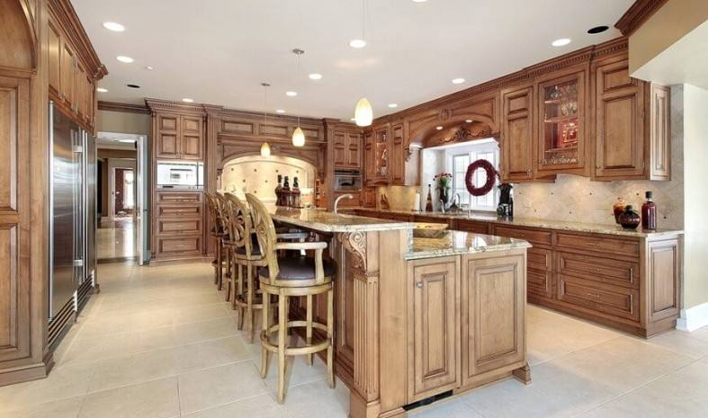 Extraordinary Brown Cabinet Kitchen Ideas Kitchen Cabinets Traditional Medium Wood Golden Brown A S Island Seating Splash