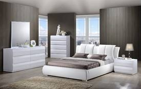 Louie Queen Bed, Dresser, Mirror & Nightstand in Cherry
