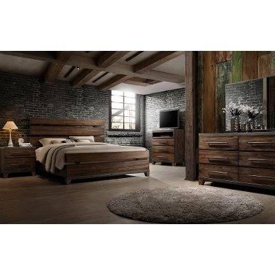 Tacoma rustic pine bedroom set