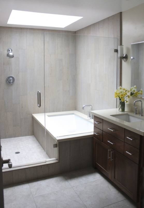 Designer Walk In Tile Shower Replaces your old tub, making your bathroom  beautiful and functional