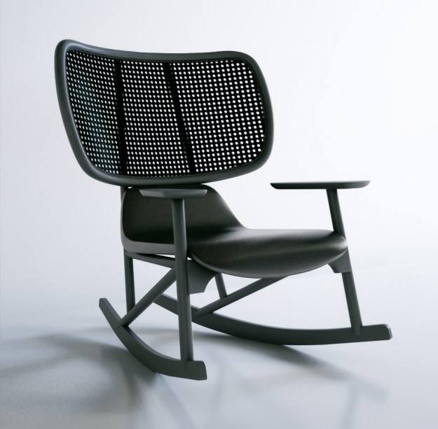 Illum Wikkelsø, Model IW 3, Rocking chair