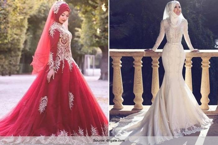 Arabic Muslim Wedding Dress 2016 Turkish Gelinlik Lace Applique Ball Gown  Islamic Bridal Dresses Hijab Long Sleeve Wedding Gowns Silver Wedding Dress
