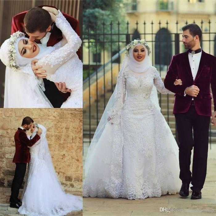 dress, beautyu, ball gown wedding dresses, muslim wedding dresses, beadings wedding  dresses, long sleeve wedding dress, beaded tulle wedding dresses,