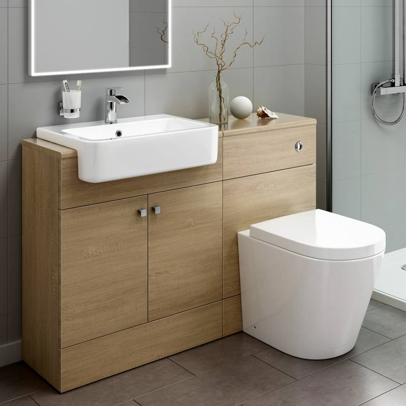 Brilliant Vanity Units Basin Toilet Mm Modern Walnut Bathroom Vanity Unit  Basin Sink Toilet Interesting With And