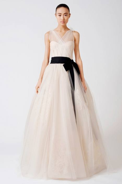 Can you see how much better the skirt on the right looks compared to the skirt from the bridal salon? There is a large depression at the back of the dress