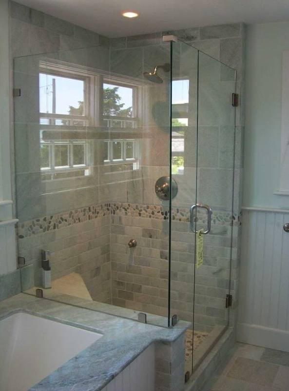 Bathtub shower doors are sized to fit standard tub enclosures