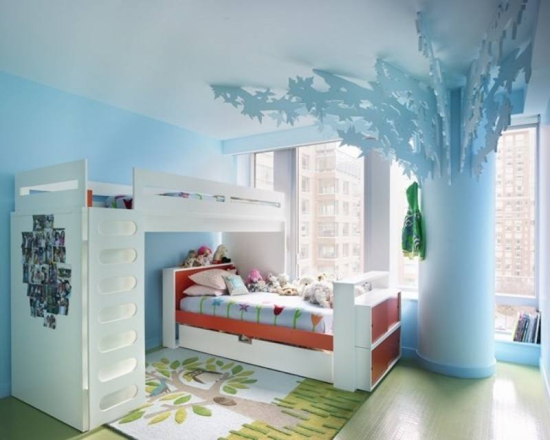 Children s room in the marine style