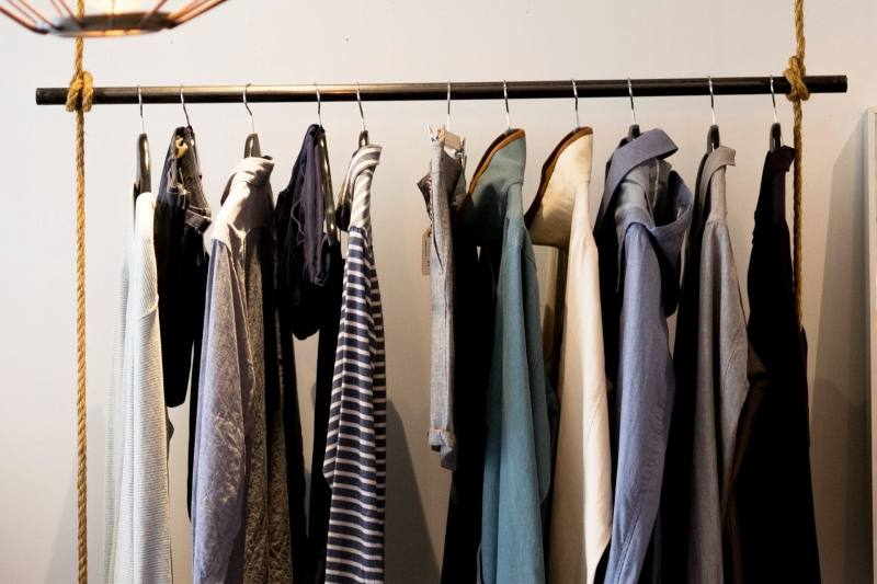 stack clothes vertically rather