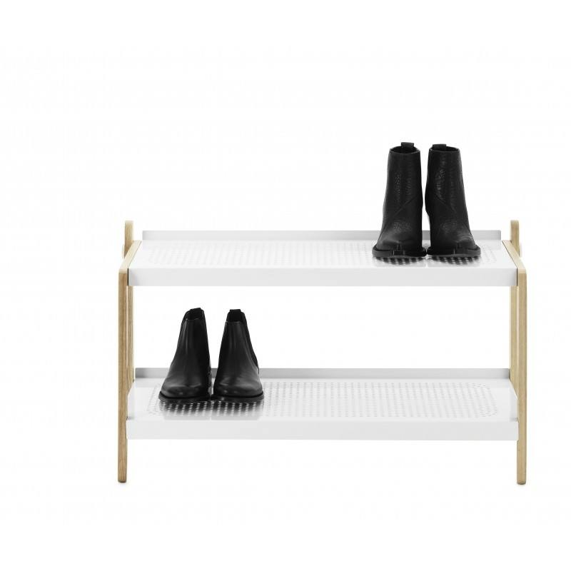 Hygena shoe cabinet with one door open