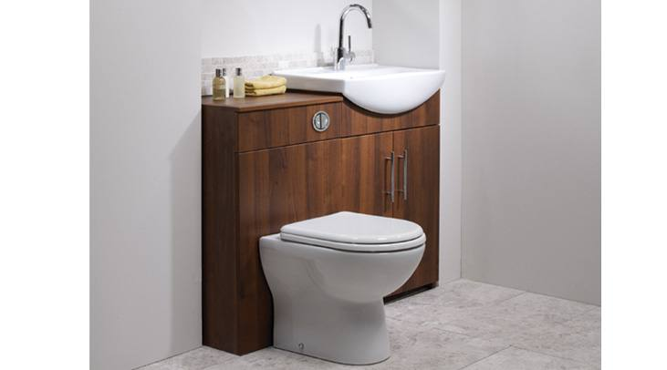 1200mm Walnut Vanity Unit Modern Toilet Bathroom Sink Left Hand Storage  Furniture: iBathUK: Amazon