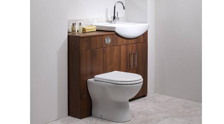 1200mm Walnut Vanity Unit Modern Toilet Bathroom Sink Left Hand Storage Furniture: iBathUK: Amazon