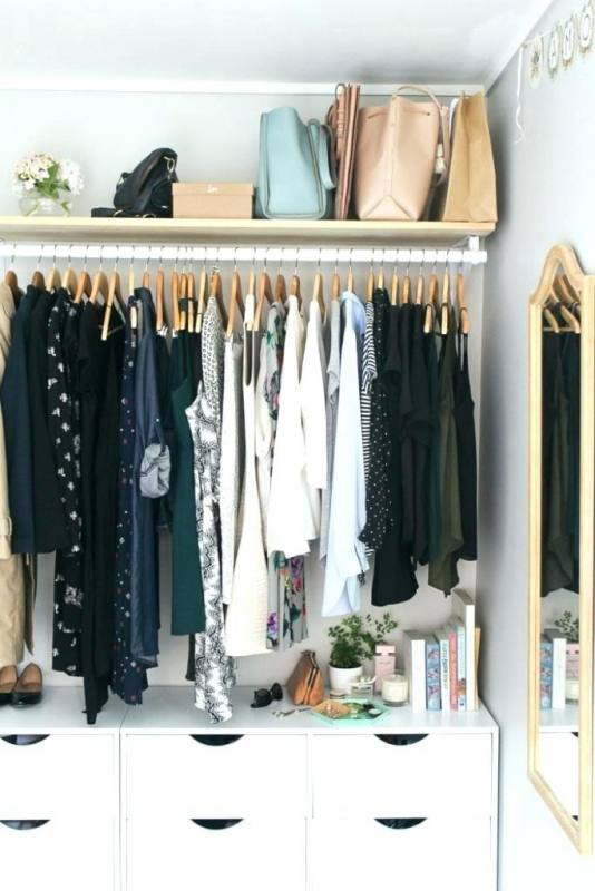 Open Closet Shelves Open Closet Ideas Get The Look Awesome Clothing Racks For Wardrobe Organization Open Closet Storage Ideas Open Closet How To Build Open