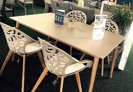 Village reclaimed teak table with white legs