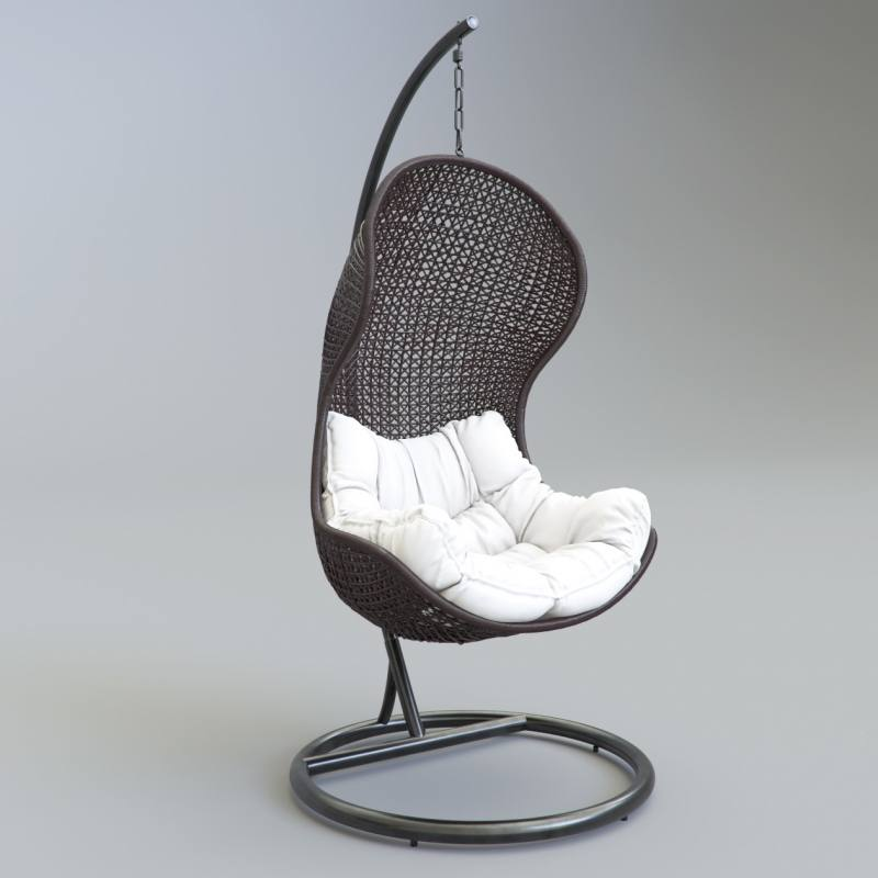 1/12 Dollhouse Miniature Rocking Chair Model Brown Doll House Dolls House  From Zongheng231, $5