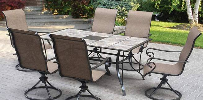 metal Outdoor Tables Metal Patio Furniture Sets Pool Water Table Black Trees