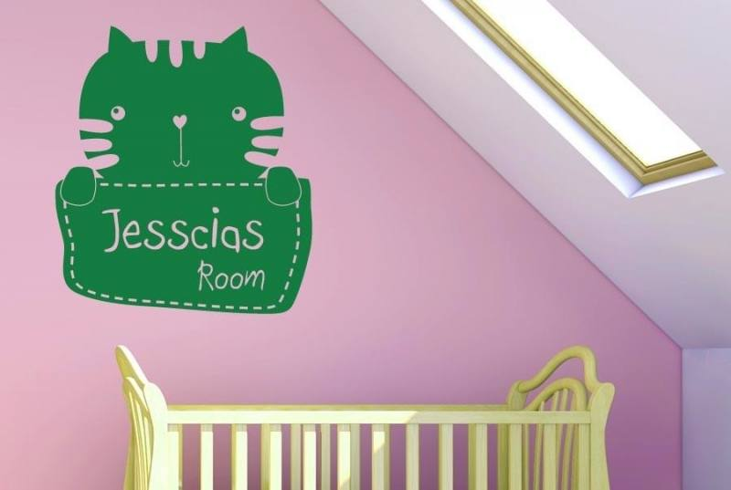 Personalised Heart Door Sign, Childrens