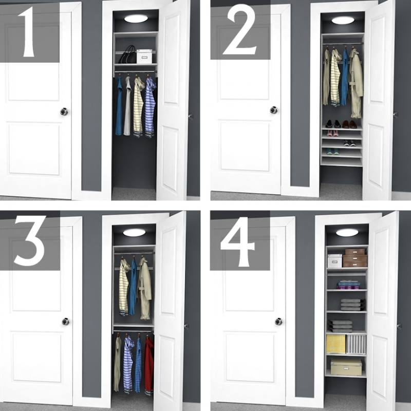double hanging closet organizer wardrobes clothes