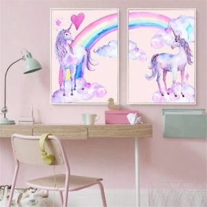 Unicorn Gold Foil Print Poster Nursery Art Babys Room Children Kids  Metallic Gold Decor 8 inches