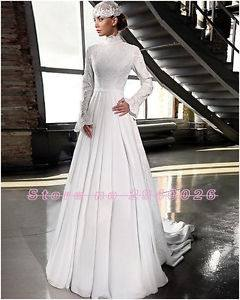 com offers high quality Chapel Beading Tulle Long Sleeves Muslim  Arabic Wedding Dress in Color Muslim Wedding Dresses unit price of $ 203