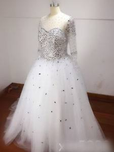 Discount 2018 Luxury Ball Gown Bling Wedding Dresses With Halter Crystals Beads Lace Backless Corset A Line Chapel Train Custom Made Bridal Gowns Bridal