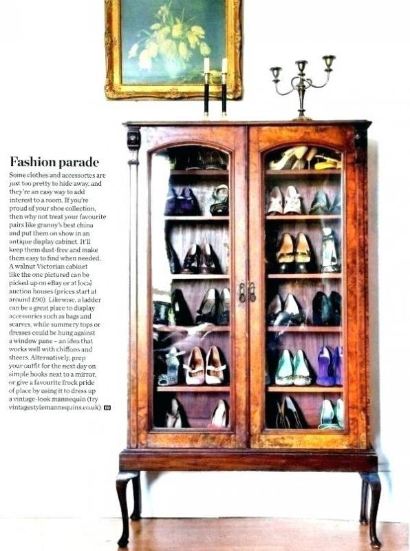 shoe cabinet without doors