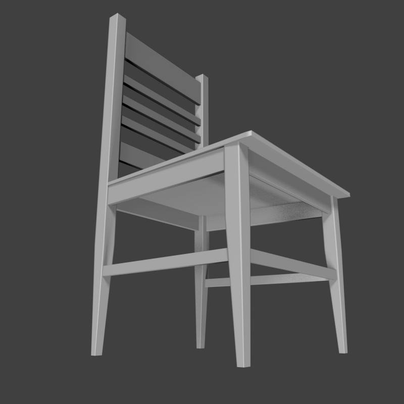 3D simple chair model; 3D simple chair model